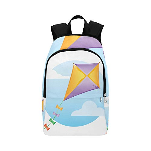 DKGFNK Backpacks Daypack Kite Colorful Lightweight Free Fly Durable Water Resistant Classic Hiking Sleeping Bag Best Bookbag Casual Makeup Bag College Bag