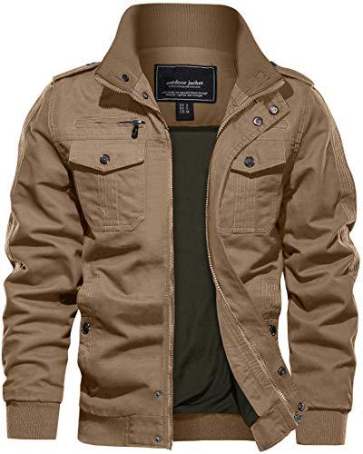 Casual Jackets for Men Summer Jacket Military Tactical Jacket Bomber Cargo Coat