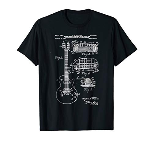 Guitar Patent Print 1955 - Vintage Patent Print Art Shirt