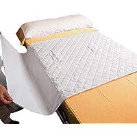 OrtoPrime Empapadores Cama Adultos Lavables Absorbentes 2,25 Litros/m2 - Más de 200 Lavados - Empapador Protector Colchón Impermeable 4 Capas - Empapadores Bebe Protector de cama con Alas 90 x 70