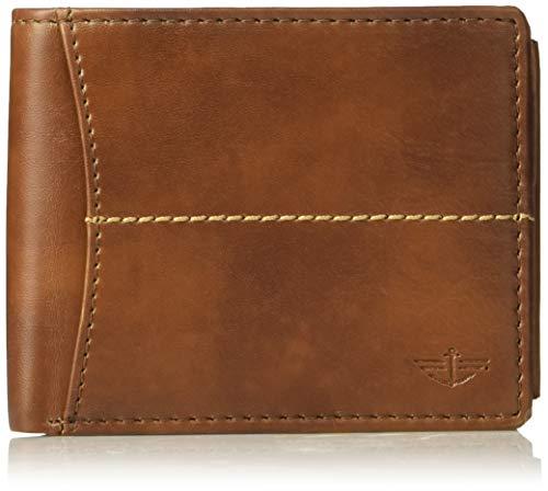 Dockers Men's Extra Capacity Slimfold Wallet, cognac, One Size