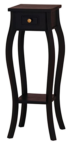 NES Furniture Fine Handcrafted Solid Mahogany Wood Toulouse Plant Stand - 35 inches