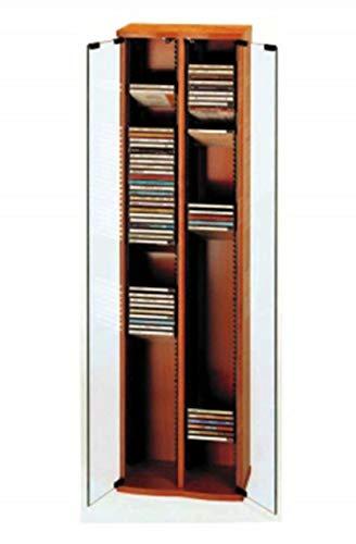Mueble ESTANTERIA DE Madera con Puerta DE Cristal para 156 CD - Ref.1201 -