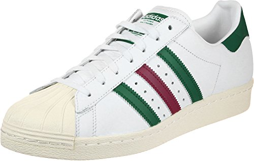 adidas Herren Superstar 80s Fitnessschuhe, Weiß (Ftwbla/Veruni/Rubmis 000), 36 2/3 EU
