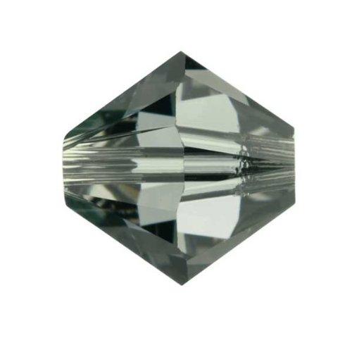 Swarovski-Kristall 5mm Xilion schwarz Diamant Perlen, 100Stück