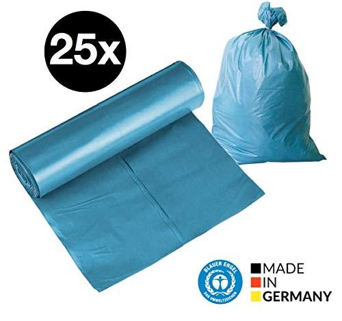 25x Müllsack 120 liter Abfallsack stark & groß & reißfest, blau Müllbeutel Müllsäcke Mülltüten (25x Stück)