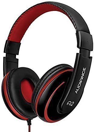 Audiance A2 Premium Over Ear Stereo Headphones in Black & Red (3.5mm Jack)