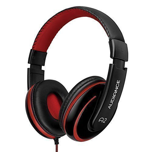 d3c1d342d7a Audiance A2 Premium Over Ear Stereo Headphones in Black & Red (3.5mm Jack)