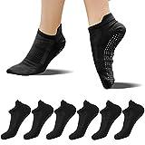FUNDENCY Non Slip Yoga Socks for Women 6 Pairs, Anti-Skid Socks for Pilates Bikram Fitness Socks with Grips