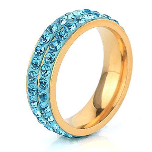 JY Compromiso de amor de acero inoxidable para mujer Anillo de compromiso de boda masculino/B / 18mm
