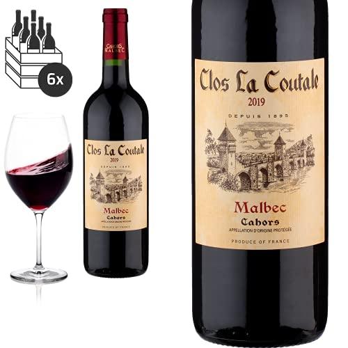 6er Karton 2019 Cahors von Clos la Coutale Malbec - Rotwein