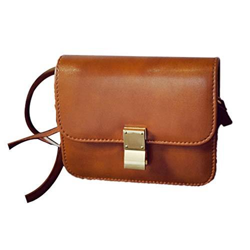 JIE 2019 Neue Box Tofu Tasche Mini Square Bag Schulter Diagonal Paket Hellbraun