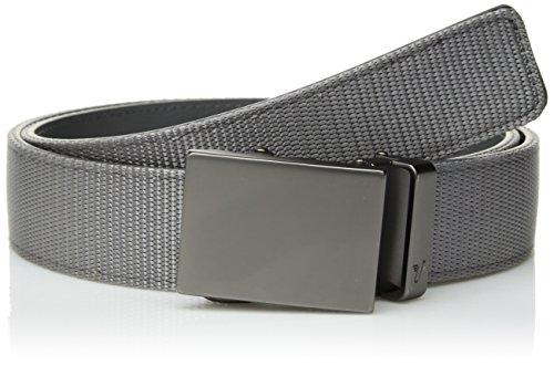 Mission Belt Herren Nylon Ratsche Gürtel 40mm Nylon Kollektion, Graues Nylon-Armband und Metallschnalle,