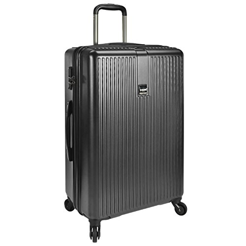 "U.S. Traveler Sparta 26"" Hardside Spinner Luggage, Charcoal"