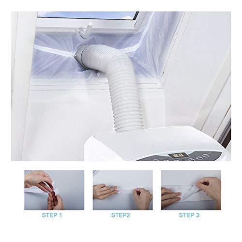Fensterabdichtung Für Mobile Klimageräte und Abluft-Wäschetrockner, Passend zu Jedem Klimagerät und Allen Schlauchgrößen - Umlaufmaß bis 500 cm