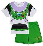 Disney Boys Buzz Lightyear Glow in The Dark Short Pyjamas 2-3 Years Green