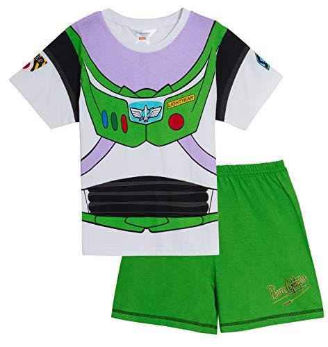 Disney Buzz Lightyear Schlafanzug für Jungen, leuchtet im Dunkeln Gr. 6-7 Jahre, grün