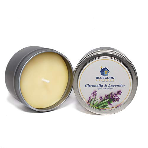 Bluecorn Beeswax Citronella-Lavender Travel Tin Candle