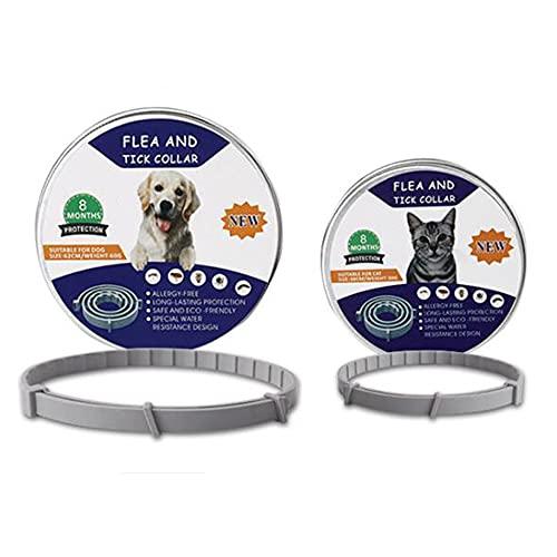 N\A Collar Repelente De Mosquitos para Mascotas Collar Antipulgas No Tóxico para Repelente De Piojos De Perros Y Gatos, El Collar Ajustable para Mascotas Es Seguro E Impermeable Perro