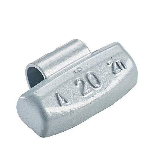 100x Poids marteau pour jantes en aluminium de type63 20g argentés | Poids marteau en aluminium poids d'équilibrage jante en aluminium | Poids d'équilibrage jantes en aluminium