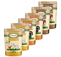 Lukullus Pouches Classic Mixed Saver Pack 24 x 300g Mediterranean Mixed In harmony with nature: These recipes are packed with wholesome ingredients and are ideal for choosy dogs with a refined palate! Very tasty: Cold-filling helps to retain the deli...