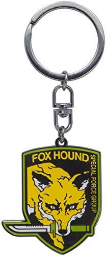 Metal Gear Solid Foxhound Unisex Schlüsselanhänger Multicolor Metall Fan-Merch, Gaming