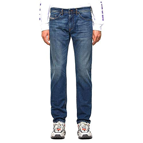 Diesel Herren Thommer-X L.34 Pantaloni Jeans, 01 Blue Denim, 32