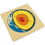 Wumudidi Montessori Solare Nucleo Puzzle, di Legno Terra Struttura Interna per Bambini Regali di Giocattoli educativi di Natale
