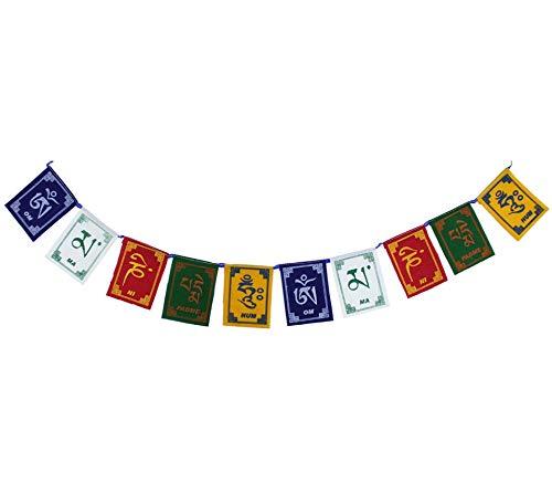Bandeirinhas Tibetanas Om Mani Padme Hum (10cm)