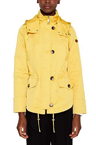 Chaqueta amarilla para mujer estilo cargo