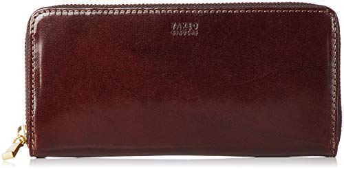 [タケオキクチ] 財布 ラウンドファスナー型 エリア 266617 チョコ