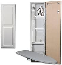 Premium Swivel Ironing Center Door Finish: Raised White Panel