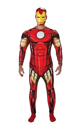 Rubie's 887533 Disfraz oficial de Iron Man Deluxe para adulto, tamaño estándar