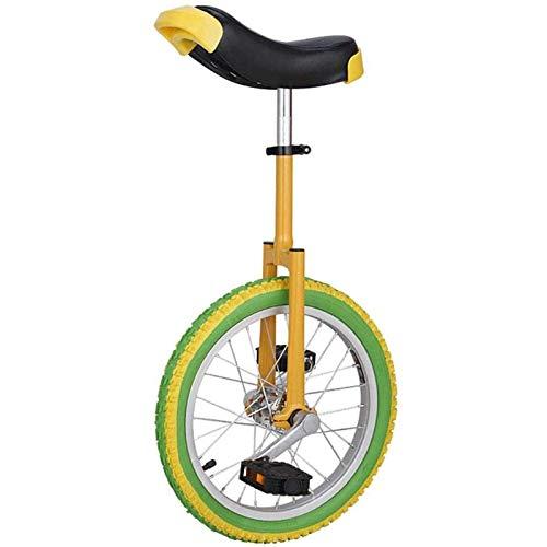 Circuito 16/18/20 pulgadas amarillo rueda redonda, adulto, principiante, adolescente, color altura ajustable bicicleta de equilibrio (tamaño: 16 pulgadas rueda) JoinBuy.R