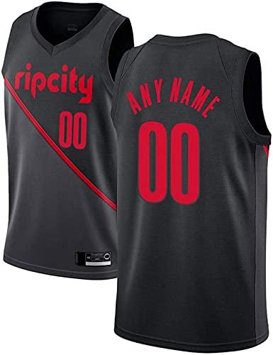 ZMIN Blazers de Jersey Hombre # 00 Jersey de Entrenamiento de Anthony, Unisex Retro Bordado Malla Jersey,Negro,XXL 185~190cm