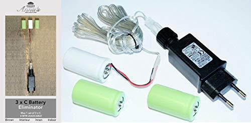 Coen Bakker Batterie Netzteil Adapter 3X C Baby LR14 Batterien 4,5V Wandler 4m Kabel Netzteil