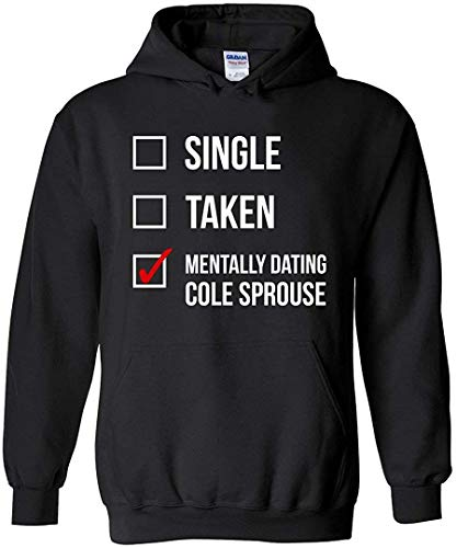Zomsun Mentally Dating Cole Sprouse Riverdale Inspired Pullover Hoodie Men/Women Black M