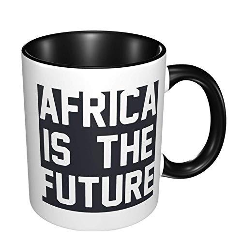 Afrika är den framtida glansiga keramiska kaffemuggen, tekoppen för kontor och hem lämplig för mikrovågsugn