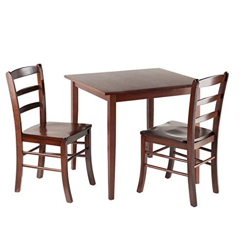 Wood & Style Premium Décor 3-Pc Square Dining Table with 2 Chairs
