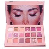 Frashing 18 Farben Lidschatten Rosa Make-Up Lidschatten-Palette Glitzer Schimmer Und Glanz...