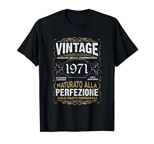 Vintage 1971 50 anni Regalo 50° compleanno Uomo Donna Maglietta