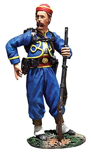W.Britains American Civil War 31286 146th New York Federal Zouave Reaching for Cartridge 1:30 Scale Pewter
