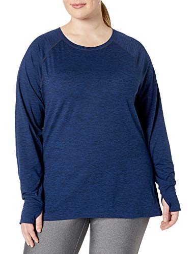 Amazon Essentials Plus Size Brushed Tech Stretch Long-sleeve Crew - fashion-t-shirts Mujer