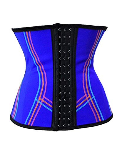 Corsé Para Mujer 2018 Moda Clásico Corsé Estiramiento Cómodo Mode De Marca Transpirable Deporte Gimnasio Corpiño Cintura Entrenamiento Belly Away Fajas Modeladoras Bustier ( Color : Blau , Size : S )