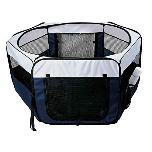 Trixie 64054 Freilauf für Kaninchen und Welpen, ø 130 × 55 cm, blau/grau