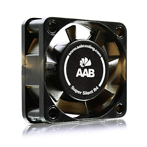AAB Cooling Super Silent R4 - Silent and Efficient 40mm Fan with 4 Anti-vibration Pads, Mini Fan, Computer Fan, 4cm Fan, 40 mm Fan, 3D Printer Fan