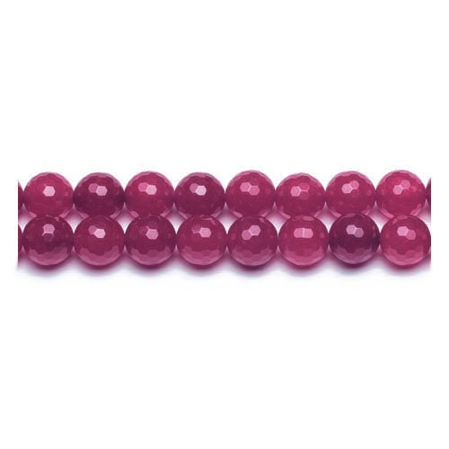 Strand 95+ Fuchsia Malaysian Jade 4mm Faceted Round Beads GS9984-1 (Charming Beads)