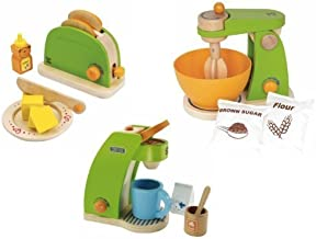 Hape Pop-Up Toaster, Coffee Maker & Mighty Mixer Set