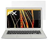 atFolix Panzerfolie kompatibel mit Google Chromebook 2 (13.3 Inch) Toshiba Schutzfolie, entspiegelnde & stoßdämpfende FX Folie (2X)