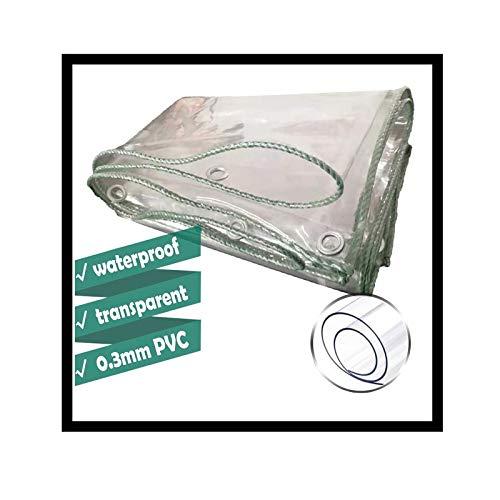 Lona MYAN Impermeable, Toldo Transparente 0,3mm PVC Resistente Al Desgarro Al Aire Libre Kiosko Impermeable Proteccion Suelo Sábana Cubrir (Color : Clear, Size : 1.5M X 3M)